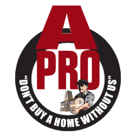 The logo for A-Pro Home Inspection of Morristown, OH