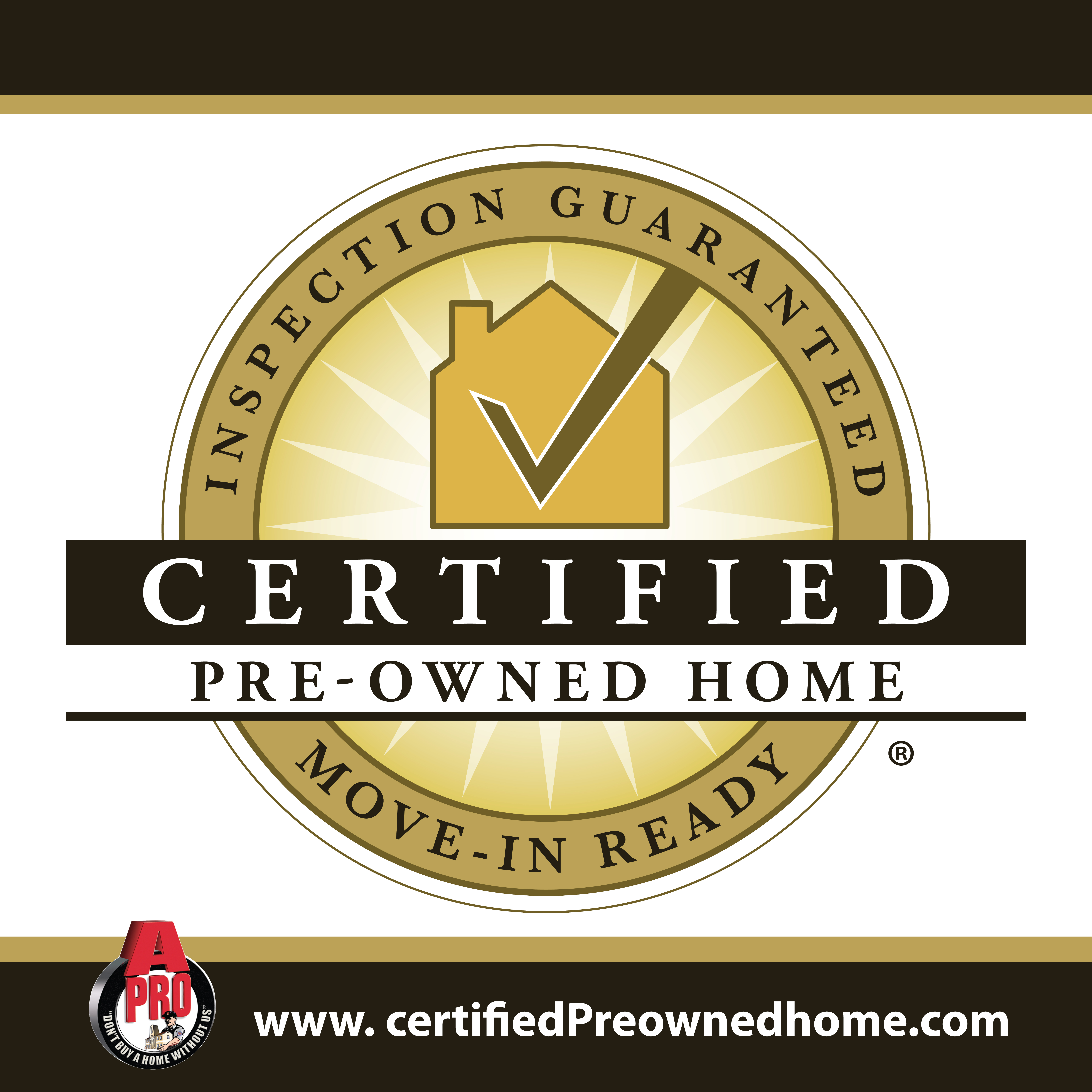 A-Pro Morristown can provide Certified Pre-Owned Home certification